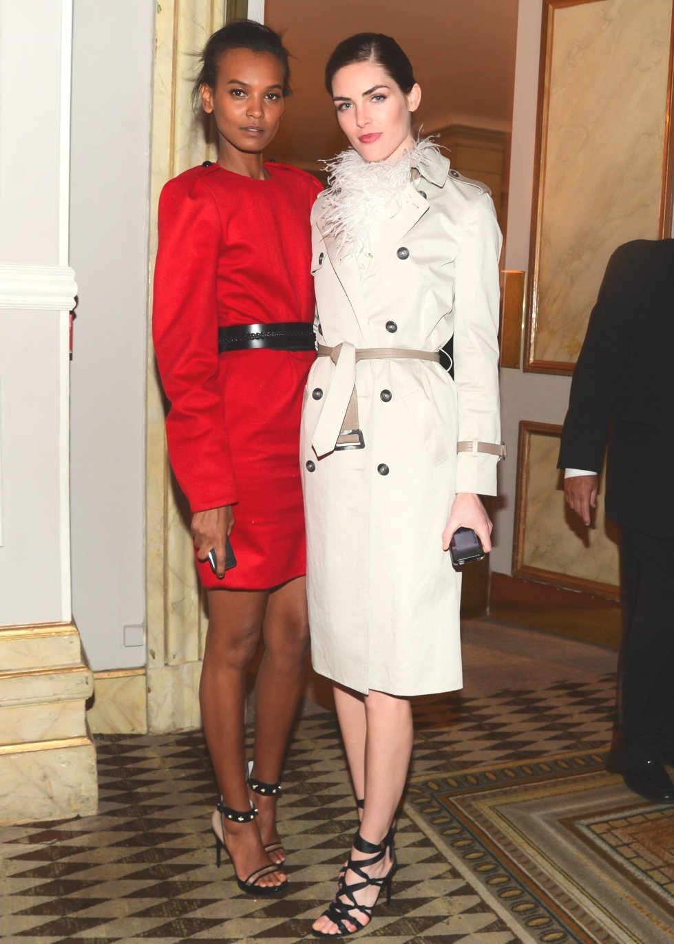Liya Kebede and Hilary Rhoda. (Joe Schildhorn/BFAnyc.com)