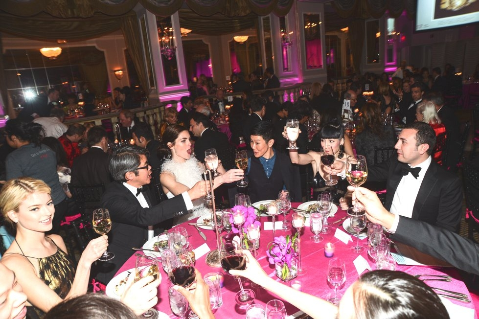 Jason Wu's table at The Pierre. (Joe Schildhorn/BFAnyc.com)