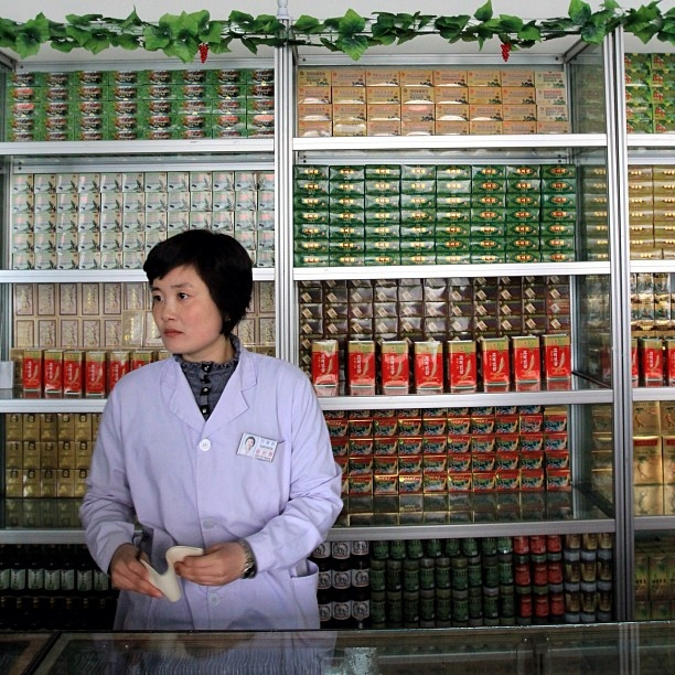 Inside the Koryo traditional medicine pharmacy on Munsu Street, Pyongyang. (newsjean/Instagram)
