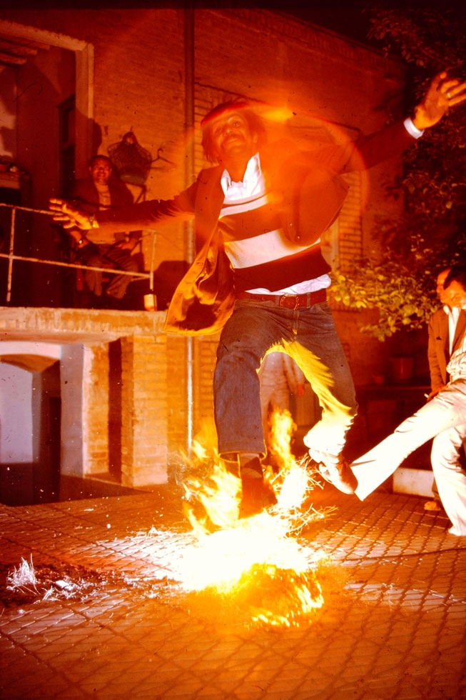 The last Tuesday night of the Iranian year is known as Chahar Shanbeh Suri, the eve of which is marked by special customs and rituals, most notably jumping over fire.