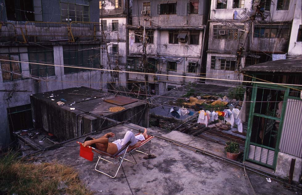"The Kowloon Walled City was a place ""unlike anything I had ever seen,"" said photographer Greg Girard. (Greg Girard)"