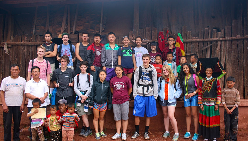 High school Summer Institute in Yunnan: visiting a village (Portland Public Schools)