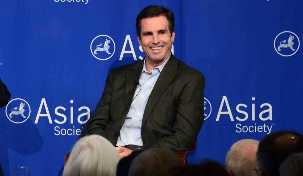 "Discussing his near-fatal wounding by a roadside bomb in Iraq in 2006, Bob Woodruff confided, ""There have been miracles, absolutely. I'm probably one of them."" (Craig Chesek/Asia Society)"