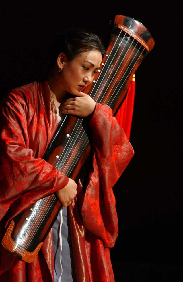 "Soprano Li Xiuying appeared in Bun-Ching Lam's opera ""Wenji: Eighteen Songs of a Nomad Flute"" (2002), co-commissioned by Asia Society and Hong Kong Festival. Li later appeared in ""La Boheme"" at New York City Opera. (Courtesy the artist)"