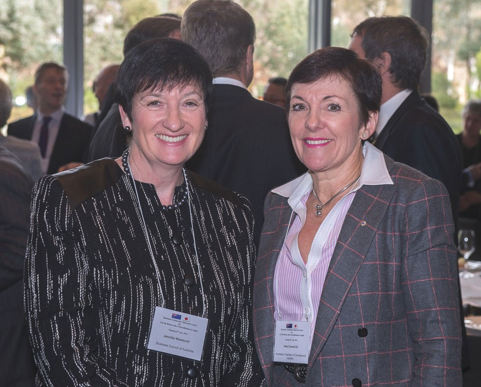 Jennifer Westacott, CEO, Business Council of Australia with Kate Carnell AO, CEO, Australian Chamber of Commerce & Industry. (Irene Dowdy)