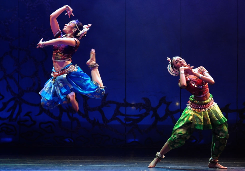 """One of Sutra's significant contributions to contemporary traditional Odissi is in the creative use of space and in group composition,"" Ibrahim tells Asia Society; come see for yourself in New York City on Nov. 6 and 7. (Sutra Dance Theater)"
