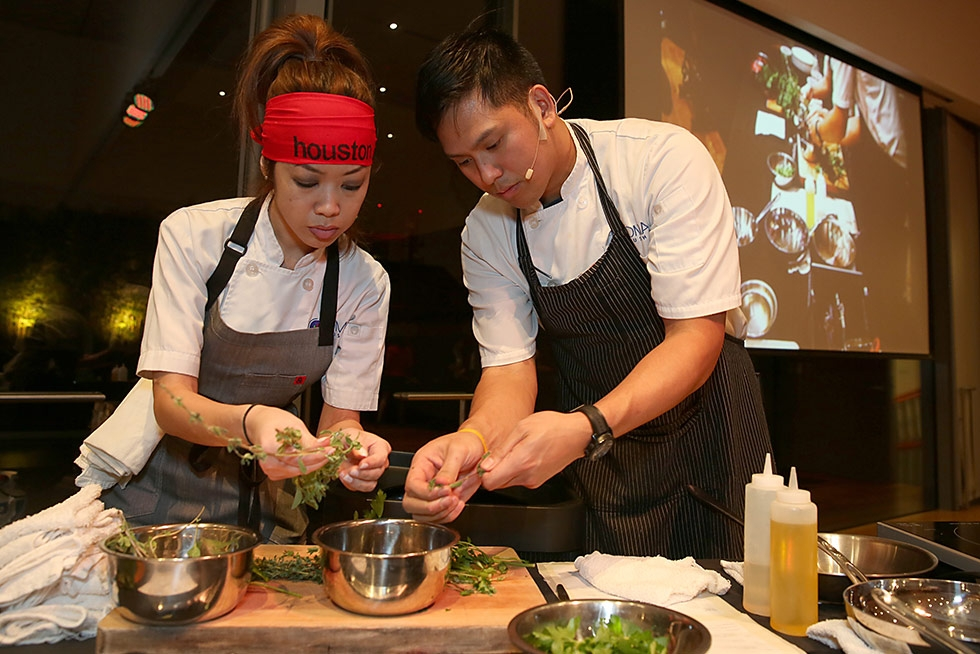 Houston chefs from Nara Sushi & Korean Kitchen and Soma Sushi battled with beef at Asia Society Texas' Kobe Cook-Off Leo Bar on December 4, 2014. (Thomas B. Shea)