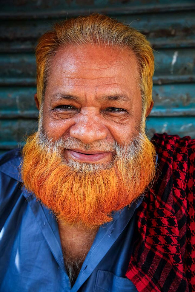 """I love color more than grey. It's my fashion. Ha ha ha,"" says Mohammad Oliwho. (GMB Akash)"