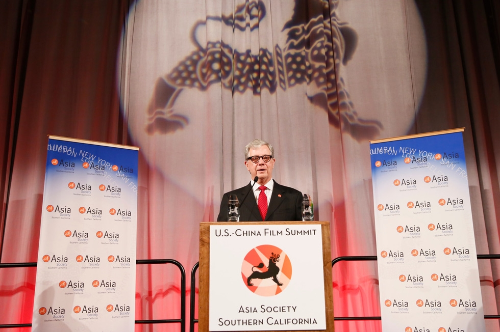 Thomas E. McLain, chairman, Asia Society Southern California, speaks during the 2015 Asia Society U.S.-China Film Summit and Gala held at the Dorthy Chandler Pavilion on Thursday, November 5, 2015, in Los Angeles, Calif. (Ryan Miller/Capture Imaging)