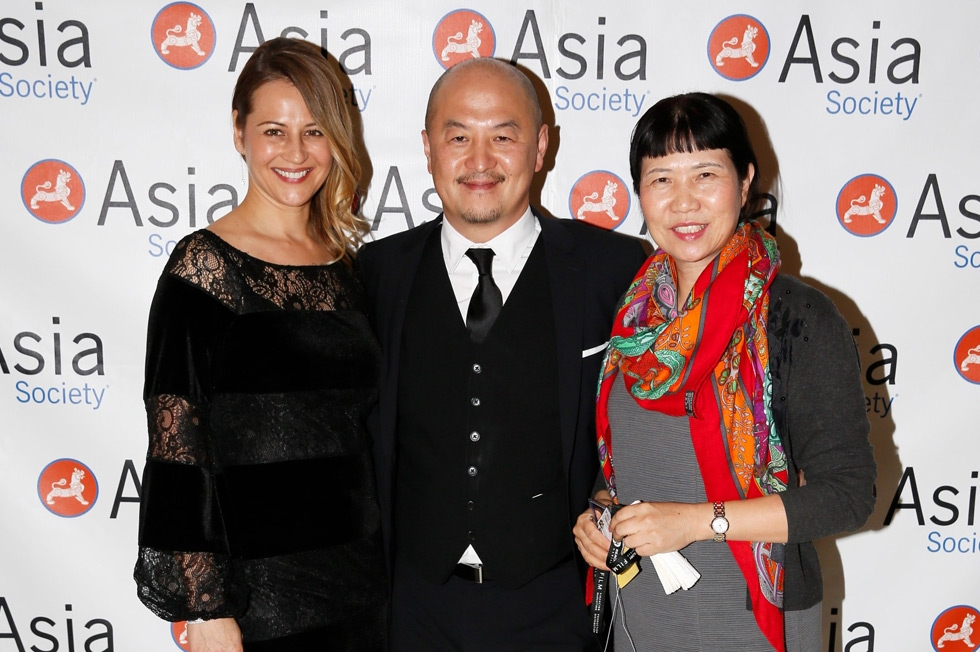 From left, Catherine Shiao, Peter Shiao and Zhang Xun pose during the 2015 Asia Society U.S.-China Film Summit and Gala held at the Dorthy Chandler Pavilion on Thursday, November 5, 2015, in Los Angeles, Calif. (Ryan Miller/Capture Imaging)