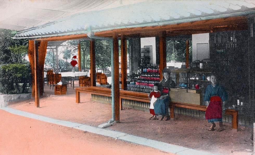 """Matsubara. Tea-house Mogi Road Tagami Nagasaki."" 1907-1918. (New York Public Library)"
