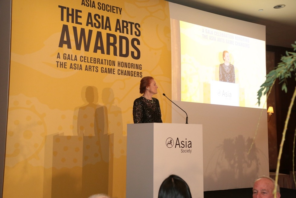 Asia Society Co-Chair Henrietta H. Fore gives closing remarks at the 2016 Asia Arts Awards.