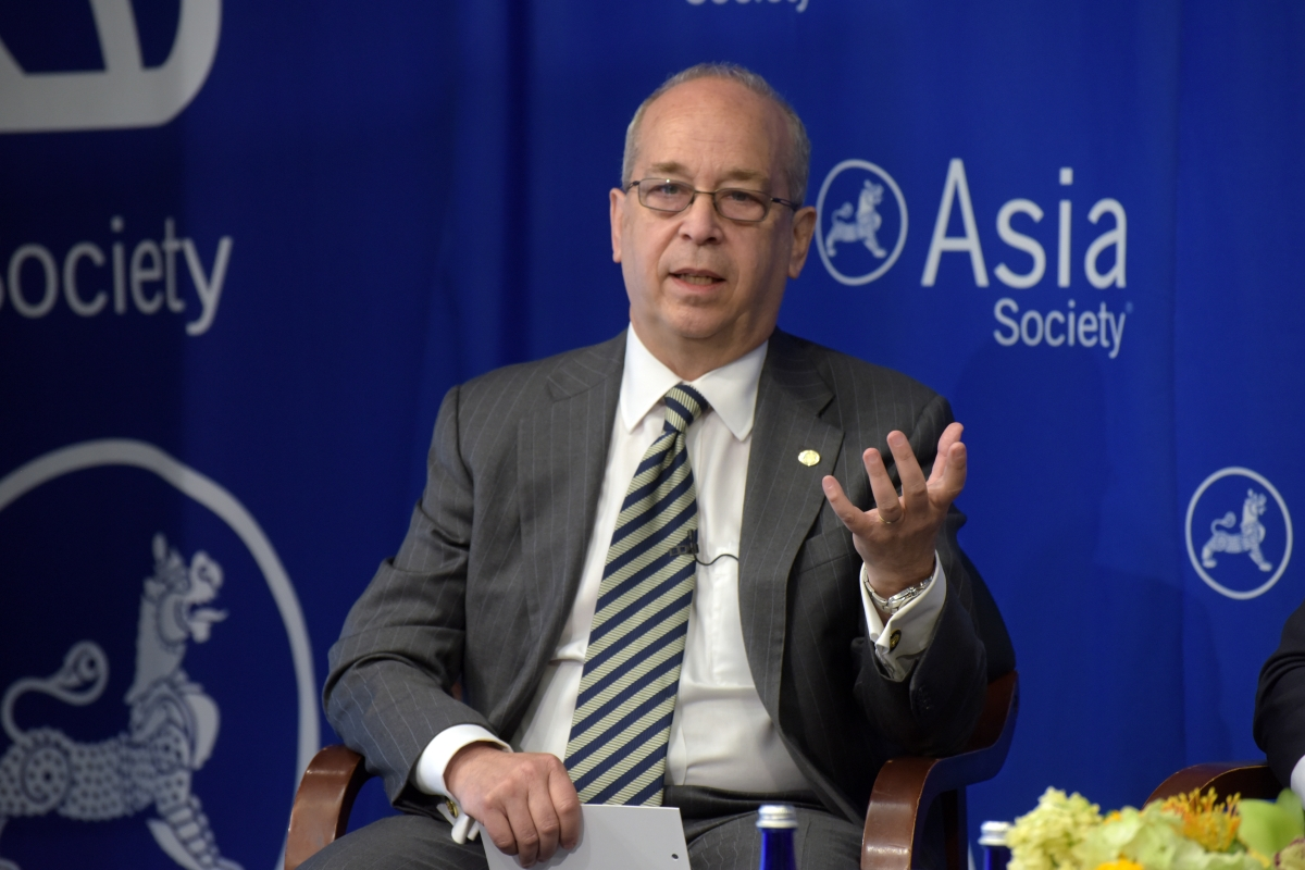 Russel speaks at a forum on the future of ASEAN at the Asia Society Policy Institute in New York on September 23, 2016. (Elsa Ruiz/Asia Society)