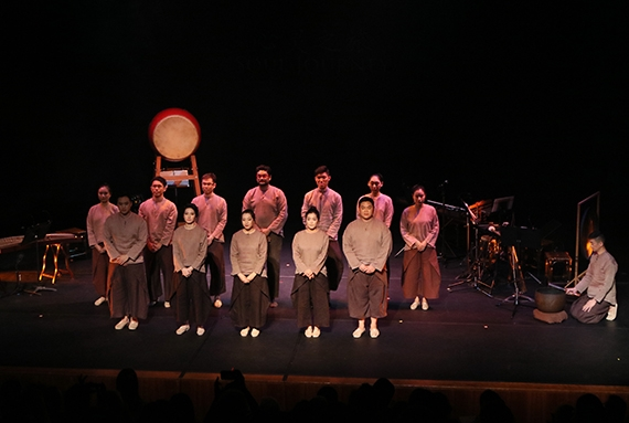 Singapore's Siong Leng Musical Association performers at Asia Society New York on April 28, 2017. (Ellen Wallop/Asia Society)