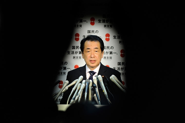 Japanese Prime Minister Naoto Kan answers questions during a press conference in Tokyo on June 4, 2010. (Toru Yamanaka/AFP/Getty Images)