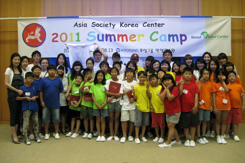 30 children from Korean multi-ethnic families participated in the 2011 Asia Society Summer Camp program, jointly sponsored by the Asia 21 Korea Chapter and the Seoul Global Center. (Asia Society Korea Center)