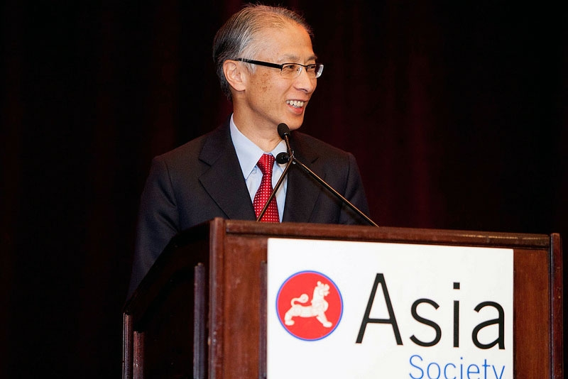 President and CEO of Union Bank Masashi Oka at the Ritz-Carlton Hotel in San Francisco on May 11, 2012. (Asia Society Northern California)