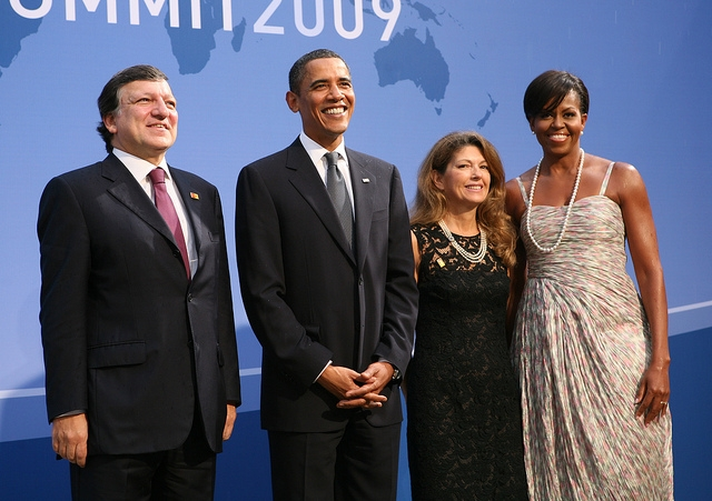 Wearing Thakoon Panichgul at the G-20 Summit in Pittsburgh, PA on September 24, 2009. (European External Action Service/flickr)