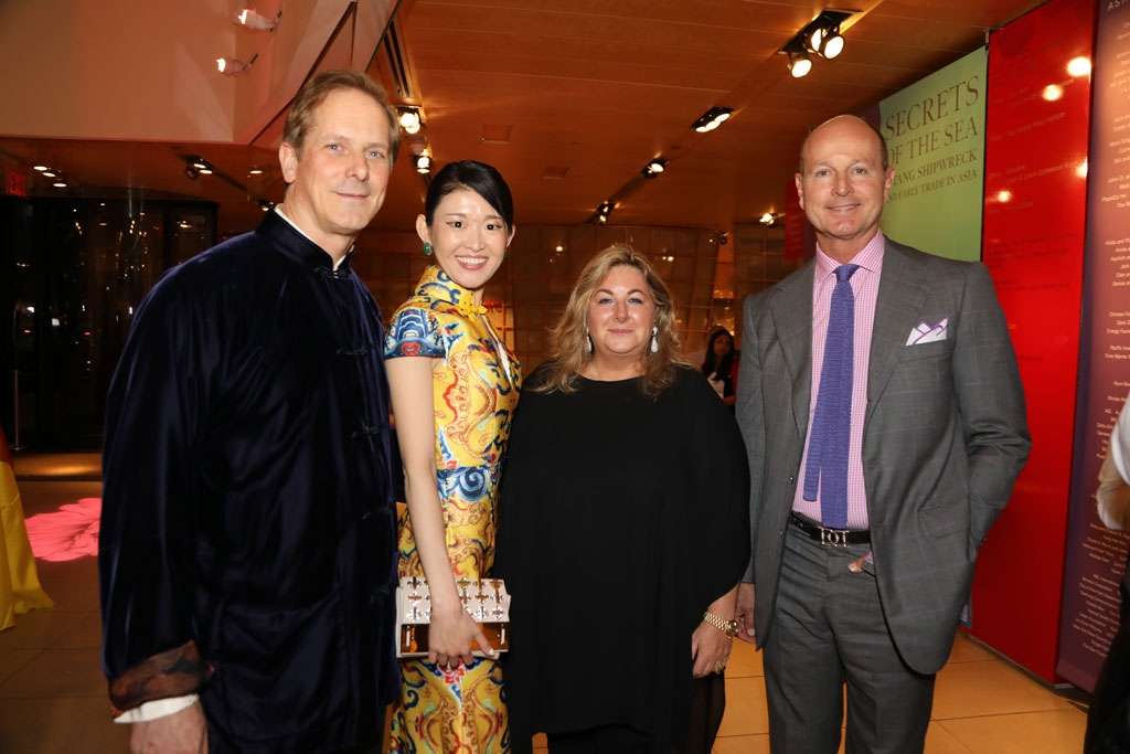 (Left to right)  Shayne Doty, Asia Society; Saina, Richemont/Montblanc; Vanessa Noel; and Prince Dimitri Karageorgevich.