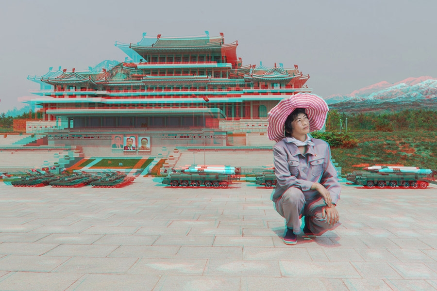 Matjaž Tančič, #24. RI GYONG SUN, 45, Maintaining Ancient History Section, Folk Park Pyongyang, 2014, Pigment print on archival paper, Courtesy of Pékin Fine Arts, Koryo Studio, and the artist