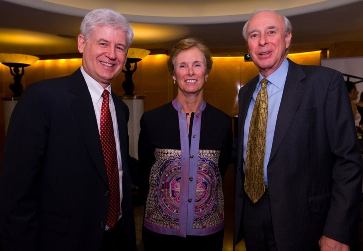 L to R: Christopher Marut and Mrs. and Mr. Richard Mueller. (Asia Society Hong Kong Center)