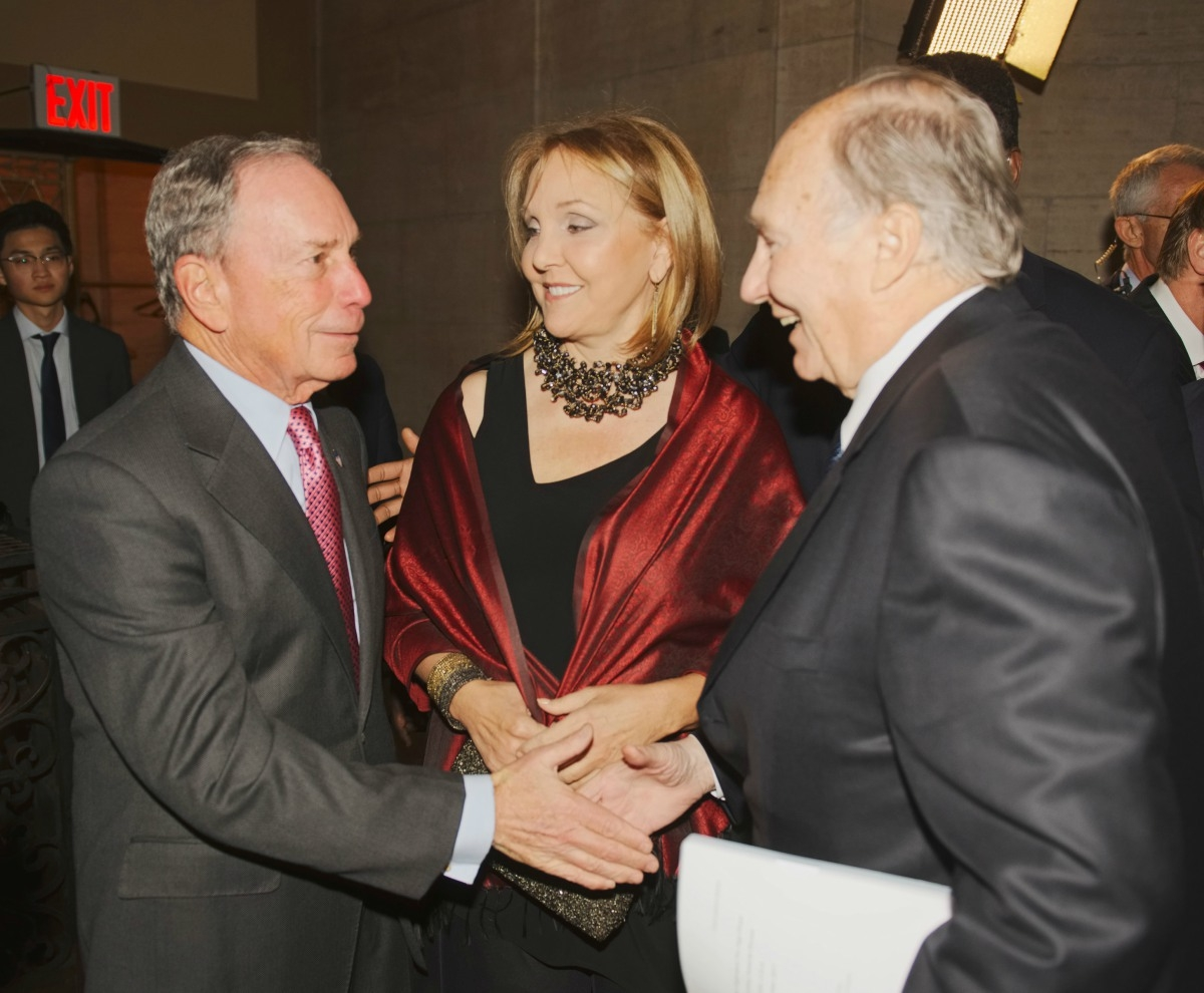 Michael Bloomberg, Josette Sheeran and the Aga Khan meet prior to the Asia Game Changer Awards