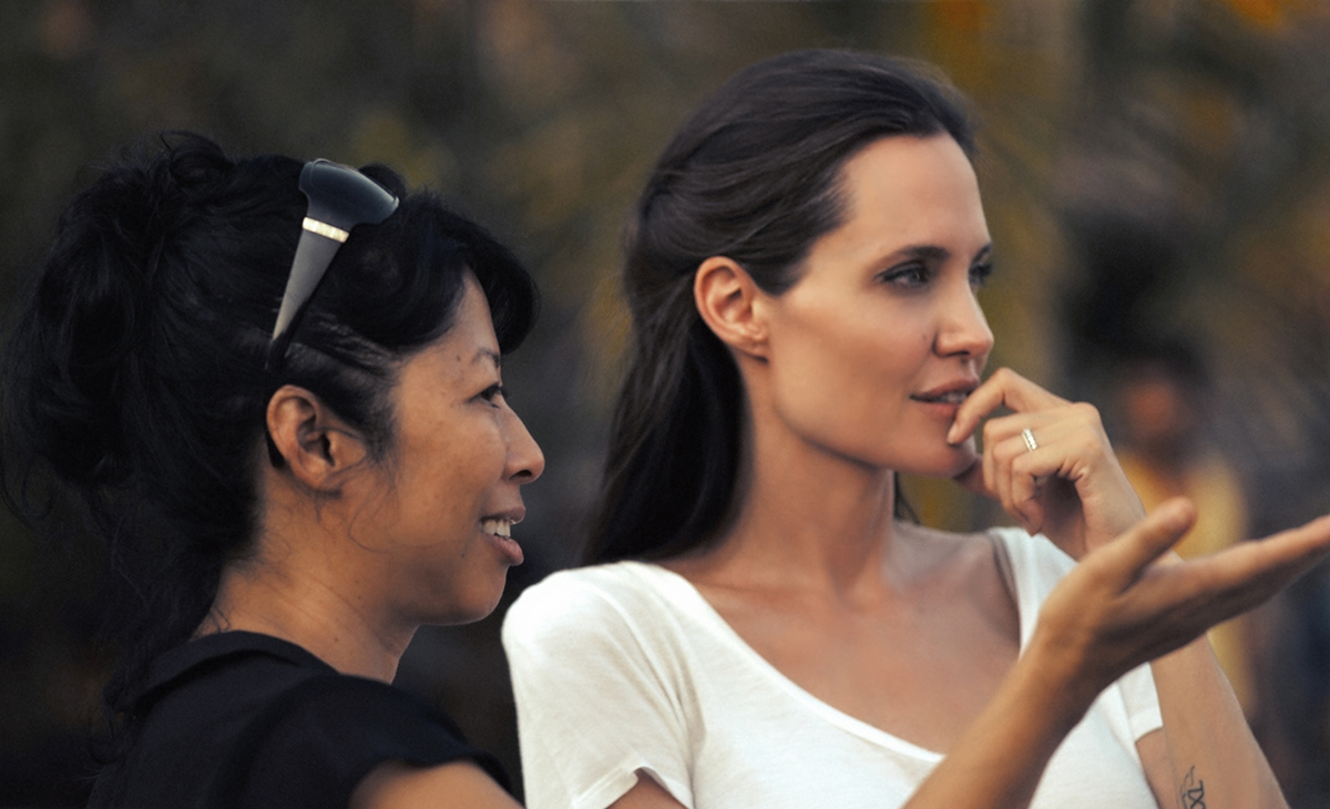 Loung Ung and Angelina Jolie in Cambodia