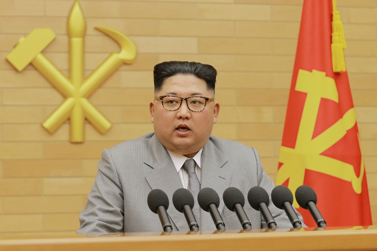 Kim Jong Un delivers a New Year's Speech.