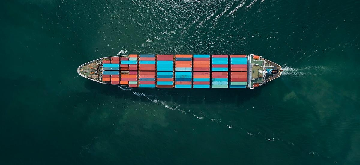 Aerial view of cargo ship, cargo container near Thailand. (Anucha Sirivisansuwan/Getty Images)