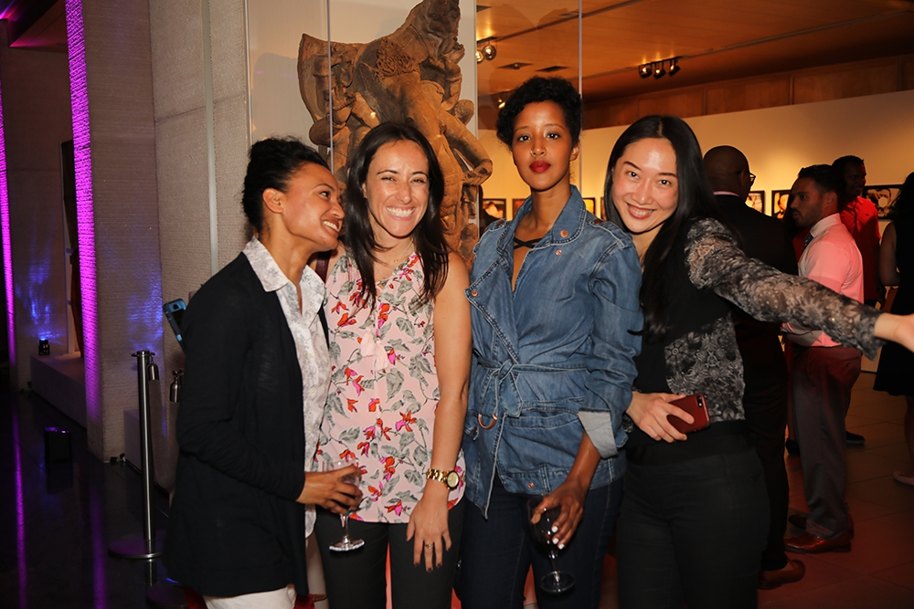 Friends having fun at Asia Society's First Friday Leo Bar