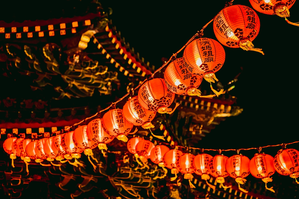 lunar new year temple lanterns - When Is Chinese New Years