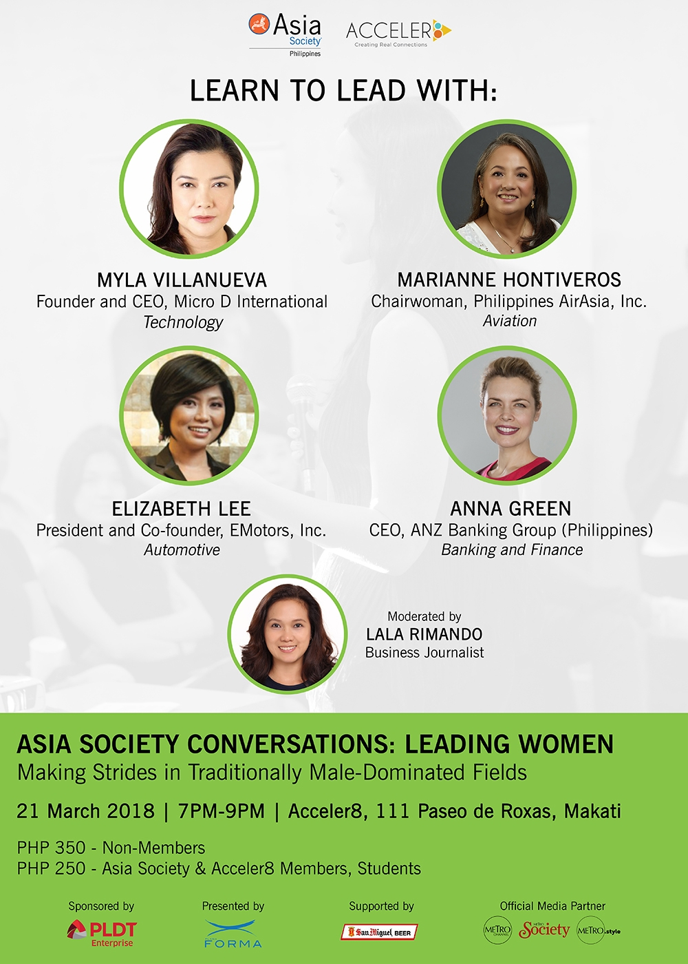 Asia Society Conversations: Leading Women | 21 March 2018 | Accceler8