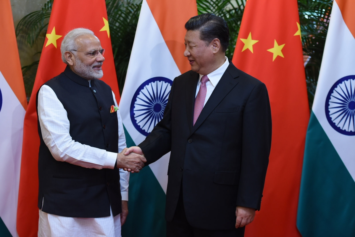 Indian Prime Minister Narendra Modi meets Chinese President Xi Jinping in Wuhan, China