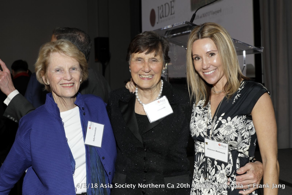 (From left to right) Sally Rosenblatt, Susy Wadsworth, and Shannon Wadsworth (Frank Jang/Asia Society)