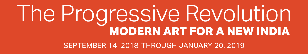 Exhibition Banner for The Progressive Revolution: Modern Art for a New India exhibition at Asia Society New York