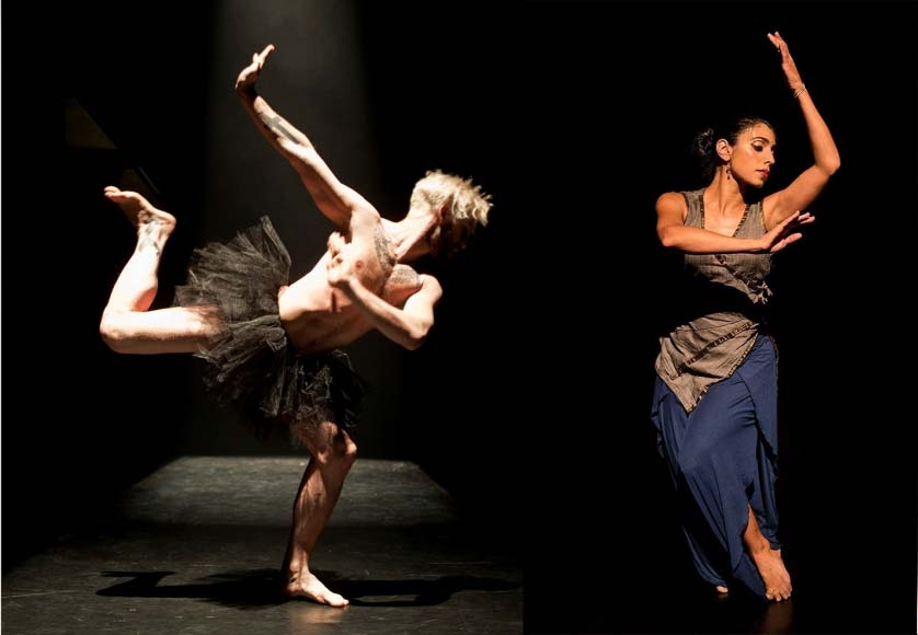 Paul Charbonneou solo in Holy Cow(s)!, choreographed by Sean Curran and Hari Krishnan; Parul Shah, Enduring Silence