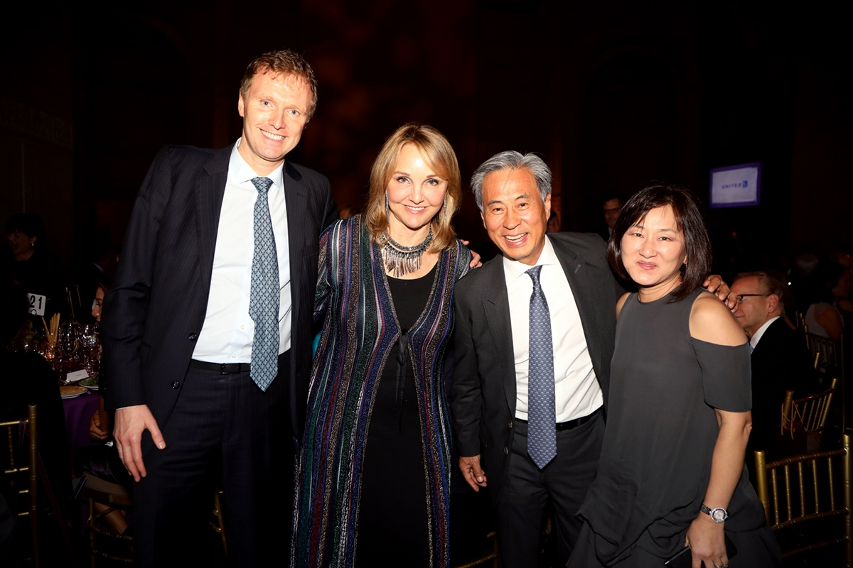 Asia Society CEO Josette Sheeran with Citi's Stephen Bird and guests at Game Changers 2018