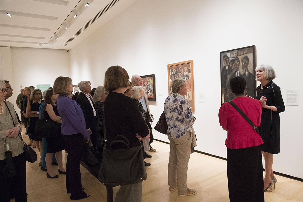 Nancy Blum conducts a tour at Asia Society Museum