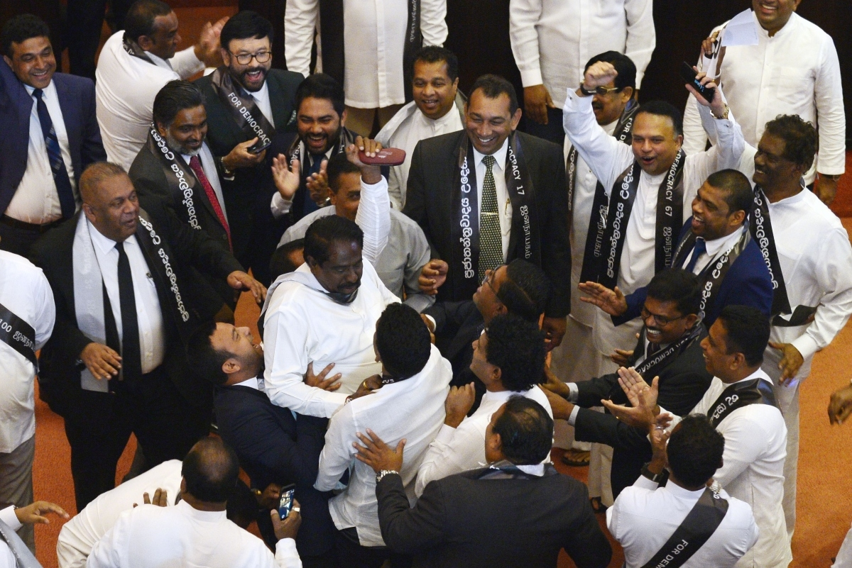 Lively action in Sri Lanka's parliament