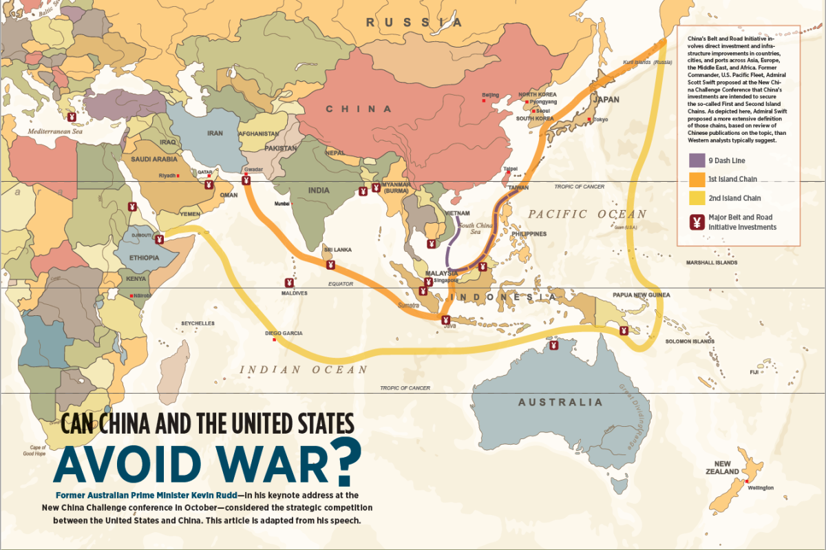 Can China And The United States Avoid War Asia Society - China-and-us-map