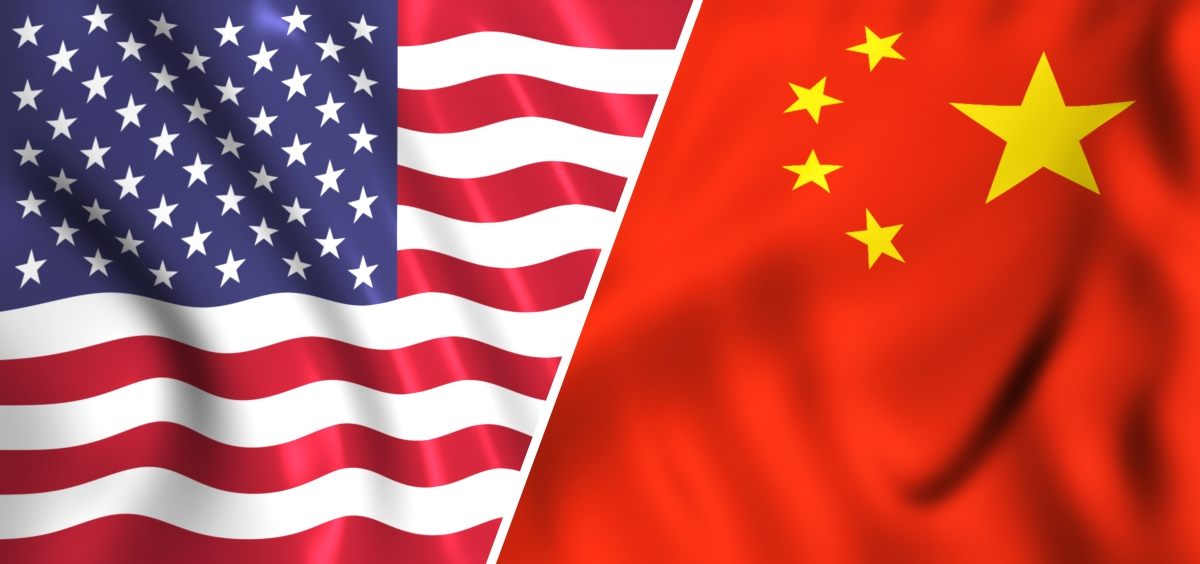 U.S. China fllags