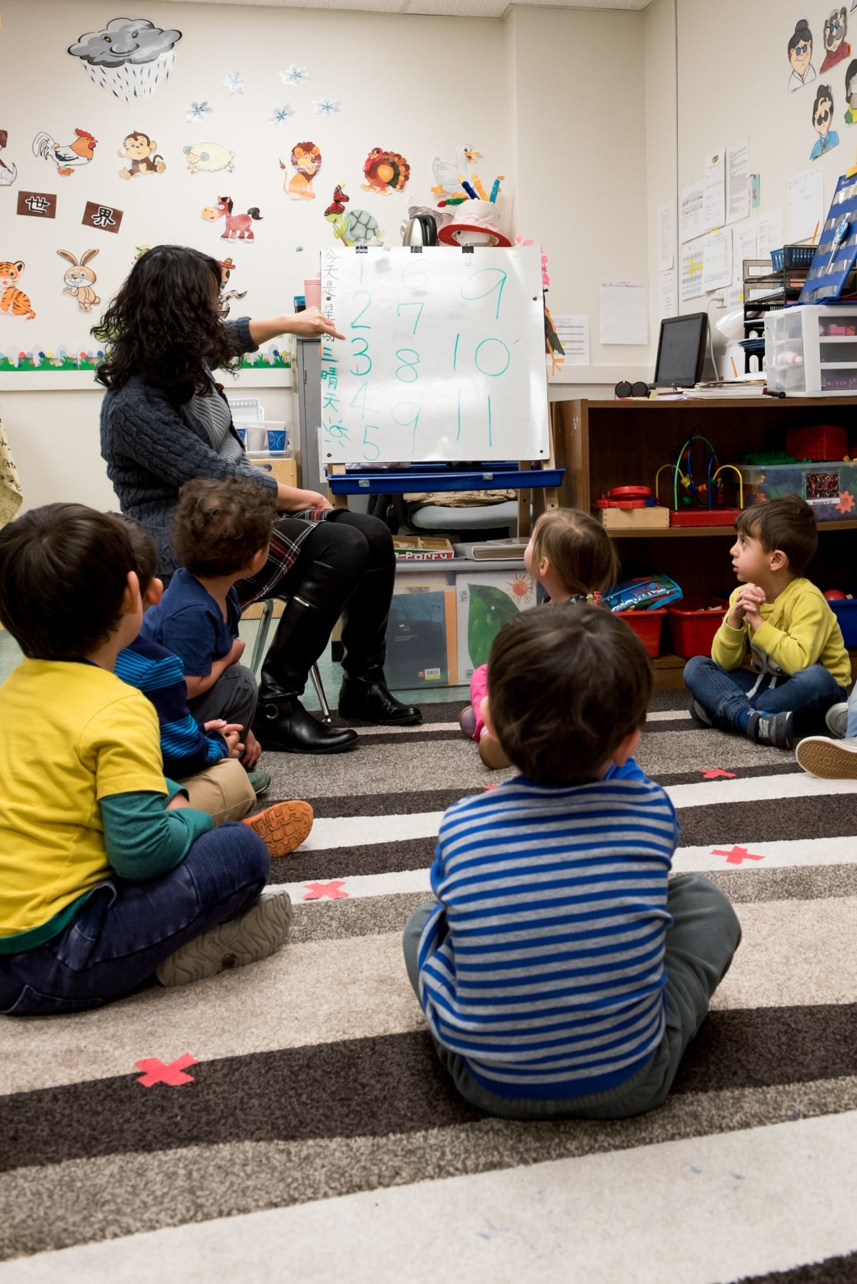 Pre-K classroom learning (Kim Denver)