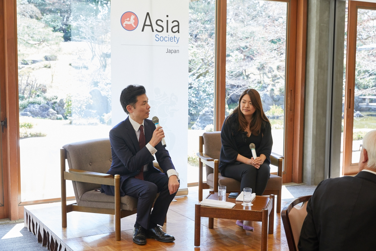 "James Kondo engages in a ""fireside chat"" with Chizuru Suga, head of Center of Fourth Industrial Revolution, Japan Center, a new generation leader"