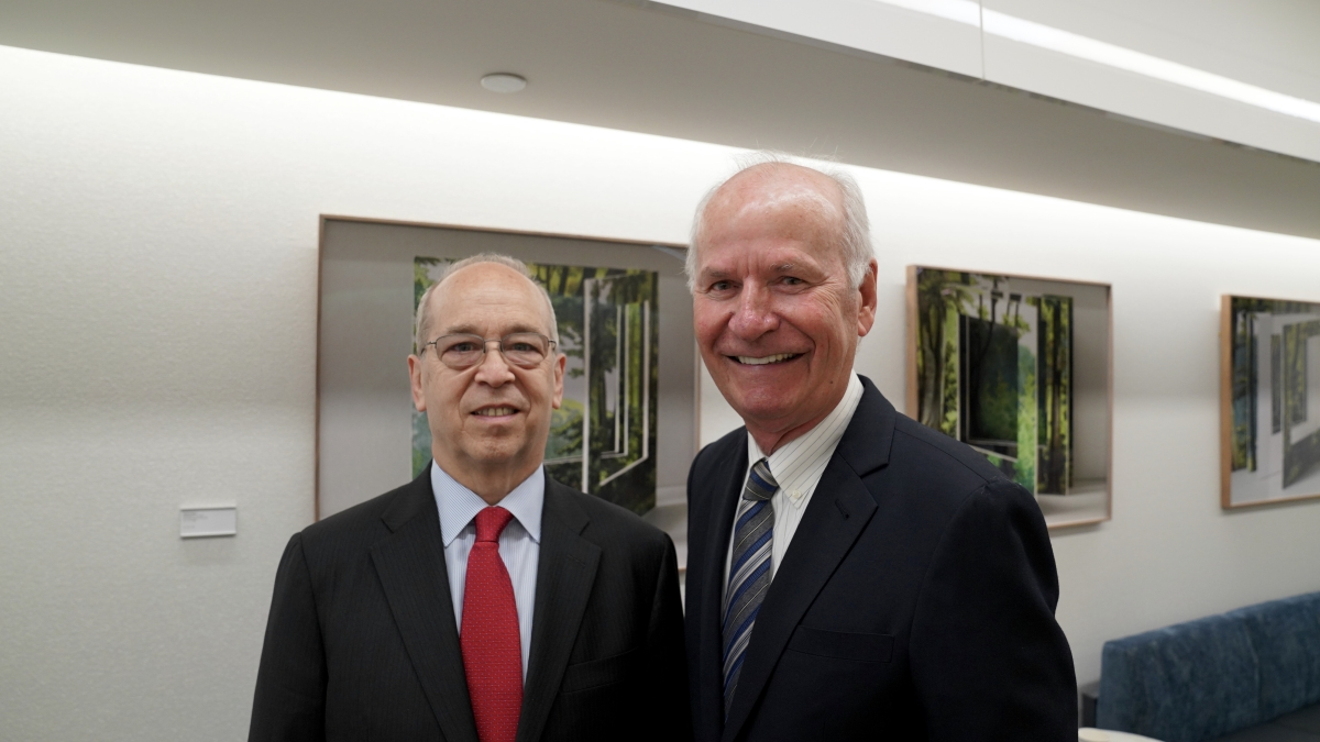 Danny Russel with Dick Drobnick, Chairman of ASSC
