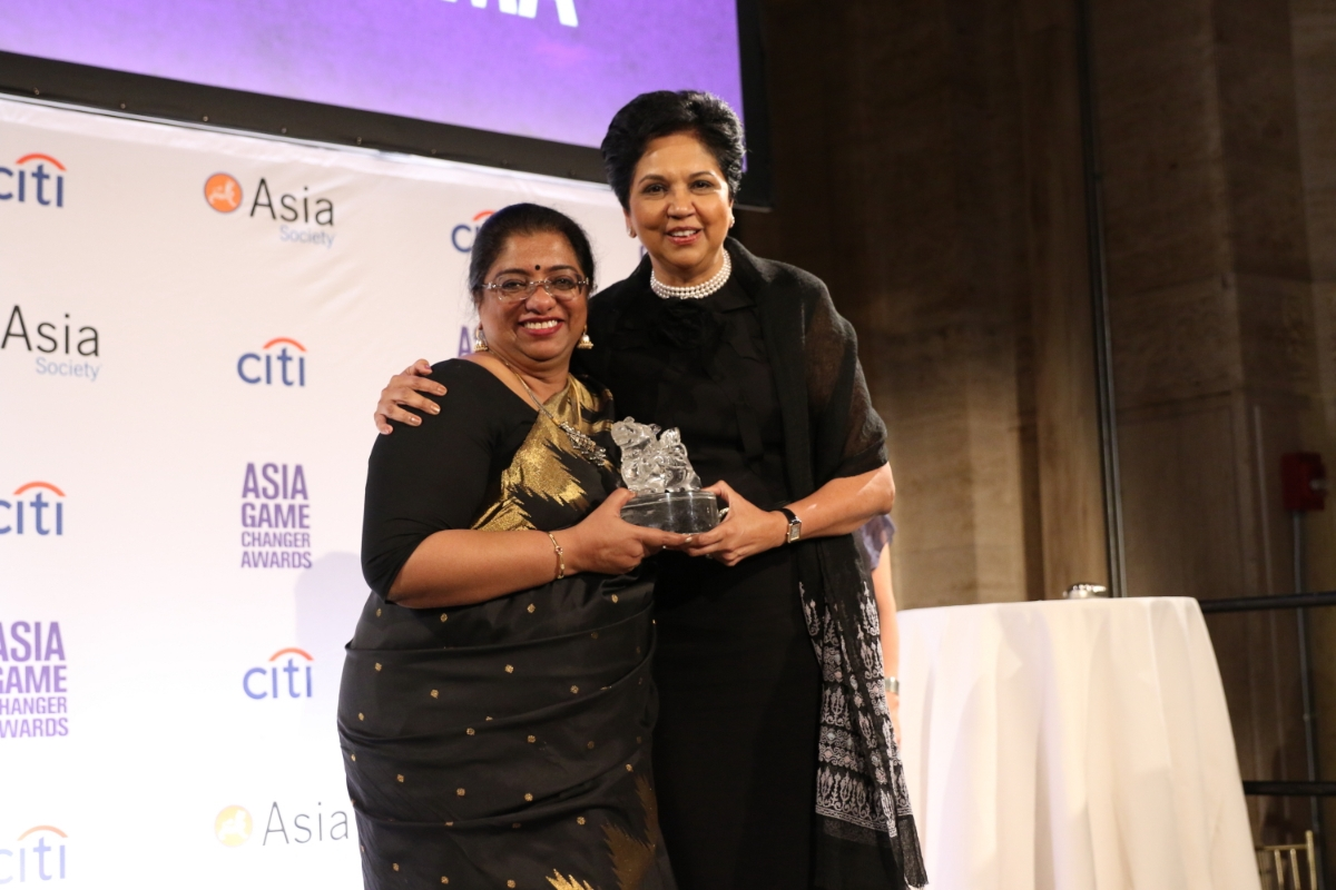 Chhaya Sharma and Indra Nooyi