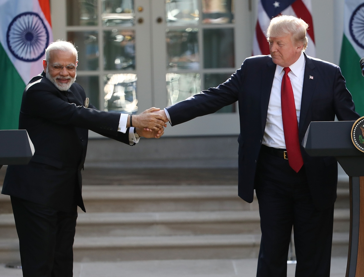 Donald Trump and Narendra Modi Hold Joint Statement At White House