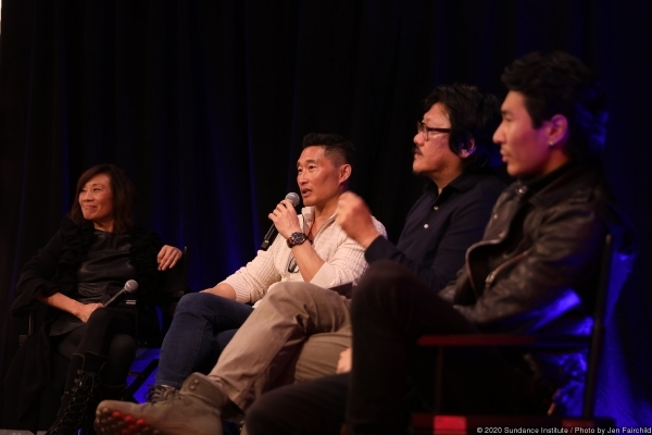 From left to right: Janet Yang, Daniel Dae Kim (Blast Beat, Always Be My Maybe, Hellboy), Benedict Wong (Nine Days, The Martian, Avengers: Endgame), Chris Pang (Palm Springs, Crazy Rich Asians)