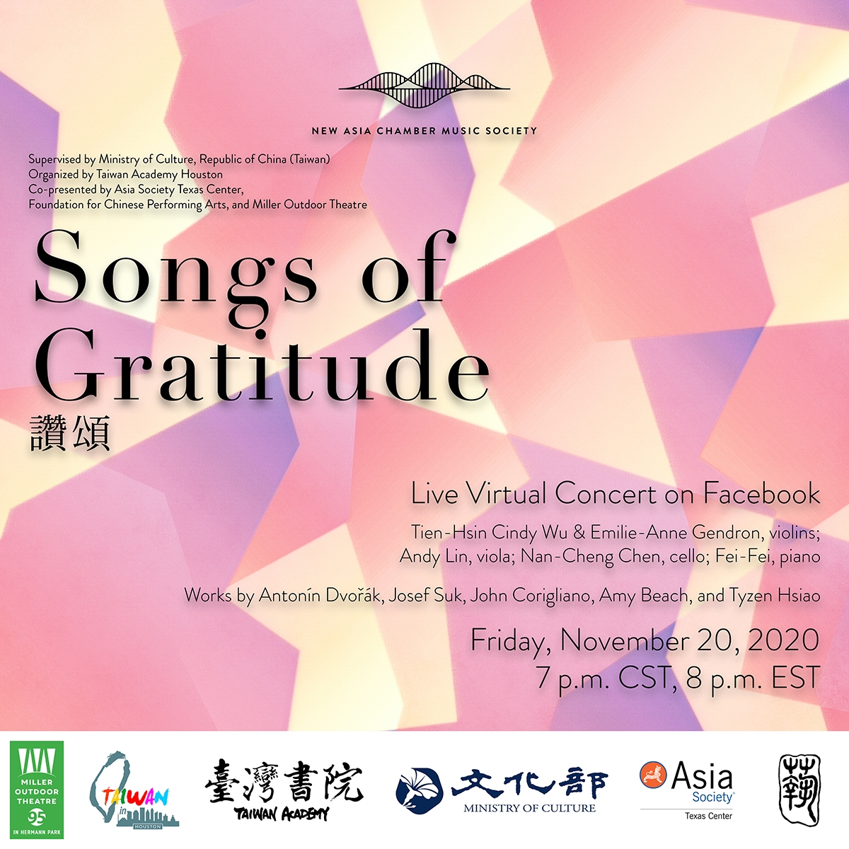 Songs of Gratitude by New Asia Chamber Music Society
