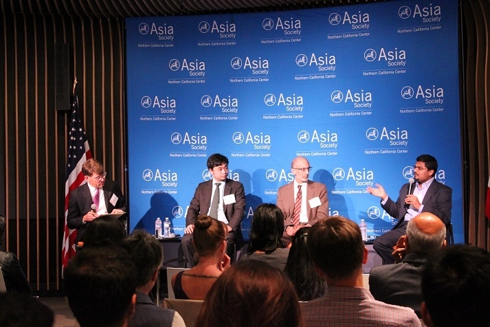 "On June 23, 2016 and in partnership with the Energy Foundation, ASNC hosted ""Longing for Blue Skies: Clearing the Air in China and India."" The panelists include: Tonny Xie of Clean Air Alliance of China; Ken Alex, California Governor's Office of Planning and Research; Anup Bandivadekar, International Council on Clean Transportation; Jeffrey Ball of Stanford University's Steyer-Taylor Center for Energy Policy and Finance. (Asia Society)"