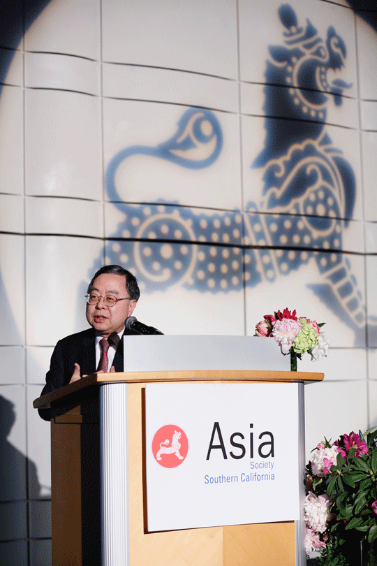 Asia Society Global Co-Chair Ronnie Chan speaks during the Asia Society Southern California 2016 Annual Gala at the Skirball Cultural Center on May 22, 2016, in Los Angeles, California. (Photo by Ryan Miller/Capture Imaging)